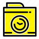 big, camera, image, think icon
