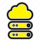 big, cloud, data, storage icon