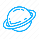 galaxy, outer space, outline, planet, saturnus, space icon