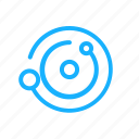 galaxy, orb, orbit, outline, rotation, space icon