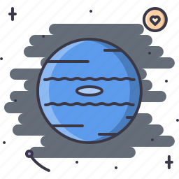 astronomy, discovery, neptune, planet, space, star icon
