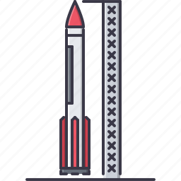 astronomy, discovery, launch, rocket, space, star icon