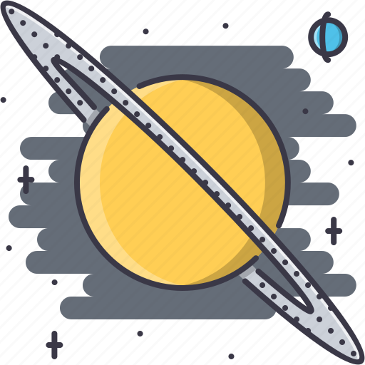 astronomy, discovery, planet, saturn, space, star icon