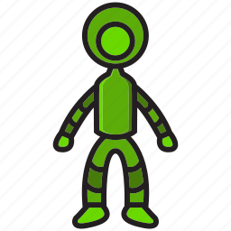 astronaut, astronot, fly, planet, robot, sky, space icon