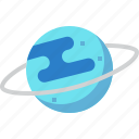 astronomy, planet, science, solar system, space, universe, uranus icon
