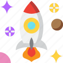 astronomy, launch, rocket, space, spaceship, startup, universe icon