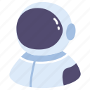 astronaut, astronomy, career, observation, space, spaceman, suit icon