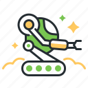 machine, rover, space robot, technology icon