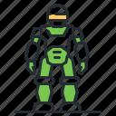 exoskeleton, robot, soldier, space icon