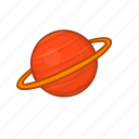 astronomy, cartoon, orbit, saturn, sign, space, sphere icon