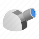 astronomical, drawing, isometric, observation, observatorio, observatory, spyglass icon