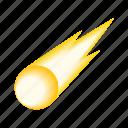 comet, falling, fireball, isometric, meteor, meteorite, sparkle icon