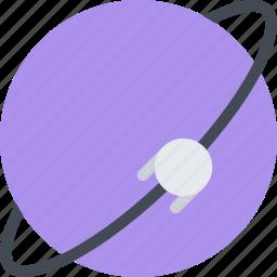 astronomy, cosmos, orbit, panet, satellite, space, technology icon
