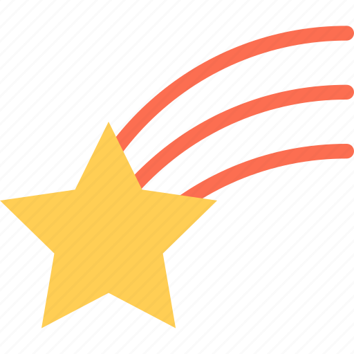 astronomy, cosmos, shooting star, space, star icon
