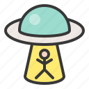 alien, exploration, galaxy, mystery, space, spaceship, ufo icon