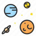 astronomy, galaxy, orbit, planet, space, star icon