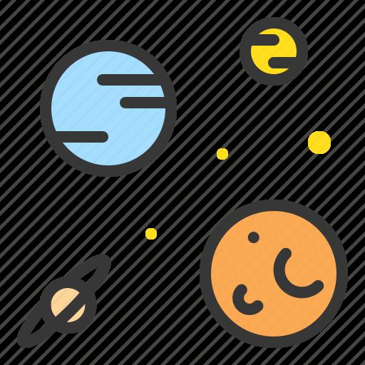 astronomy, galaxy, orbit, planet, space, star icon