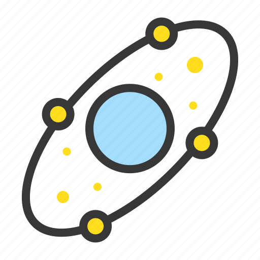 astronomy, galaxy, orbit, planet, space, star, universe icon