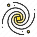 astronomy, black hole, galaxy, solar system, space, spiral, universe icon