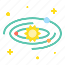 astronomy, galaxy, orbit, planet, solar system, space, universe icon