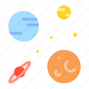 astronomy, galaxy, orbit, planet, space, star, universe icon