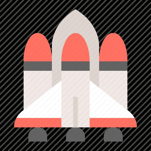 launch, rocket, space, spacecraft, spaceship, vehicle icon