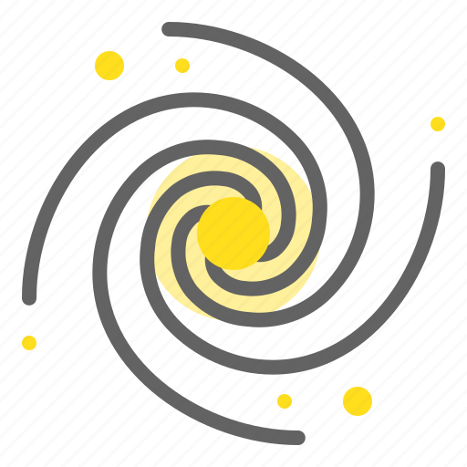 astronomy, black hole, galaxy, space, spiral, universe icon