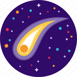 asteroid, fire, meteor, space, star icon