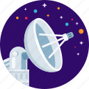antenna, dish, satellite, space, star icon