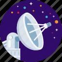 antenna, dish, satellite, space, star