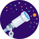 astronomy, find, planet, search, star, telescope icon