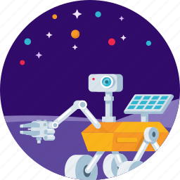 research, robot, rocket, rover, satellite, space icon