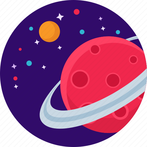 astronomy, planet, saturn, star icon