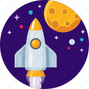 rocket, shuttle, spacecraft, spacerocket icon