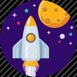 rocket, shuttle, spacecraft, spacerocket icon