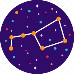astrology, big dipper, constellations, space, stars, ursa major icon