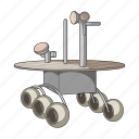 apparatus, equipment, moon rover, ship, space, technology, transport icon