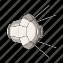apparatus, equipment, orbit, satellite, ship, space, technology icon