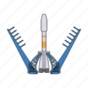 apparatus, equipment, rocket, ship, space, technology icon