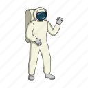 apparatus, cosmonaut, equipment, ship, space, space suit, technology icon