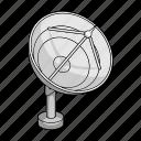 apparatus, equipment, locator, ship, space, technology icon