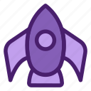 astronomy, galaxy, plane, rocket, space, spaceship, universe icon