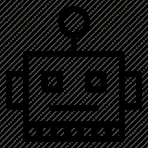 emoji, emoticon, machine, robot icon