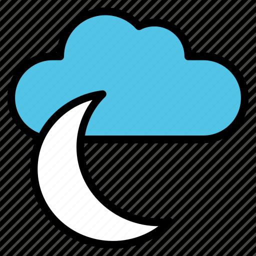 crescent, evening, moon, nighttime, stars icon