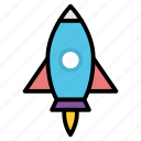 launch, project, rocket, space, startup icon