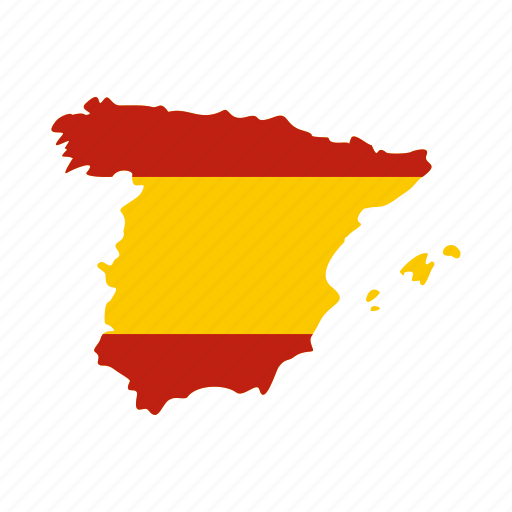 country, europe, geography, land, map, national, spain icon