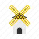 agriculture, building, farm, mill, old, wind, windmill icon