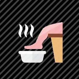 foot, soak icon