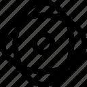 center, core, dense, energy icon