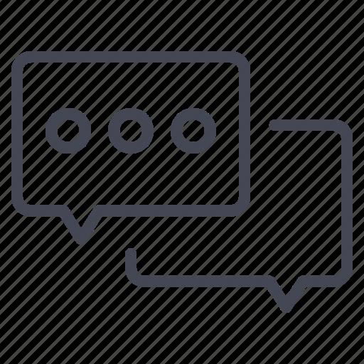 bubble, chat, conversation icon